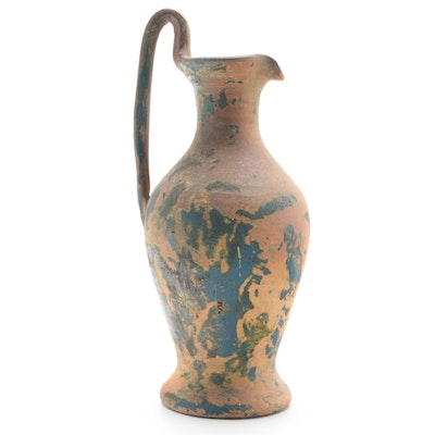 Classical Style Mottled Glazed Terracotta Water Pitcher