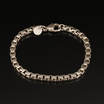 Tiffany & Co Sterling Venetian Link Bracelet with Pouch