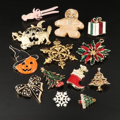 Holiday Pins and Brooches