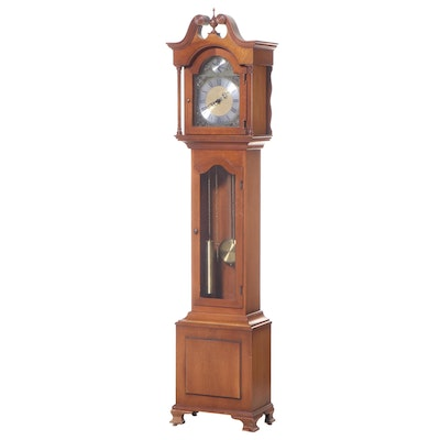 Colonial Mfg. Co. Federal Style Cherrywood Grandmother Clock