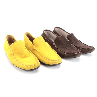 Carro Positano and Corium Sorrento Suede Driving Loafers