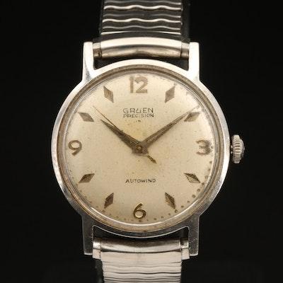 Gruen Precision Autowind Stainless Steel Wristwatch