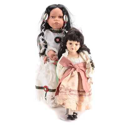 Goldenvale Native American with Other Porcelain Doll