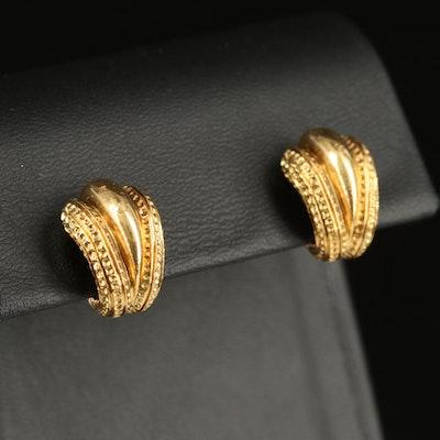 Vintage Tiffany & Co. 18K  J Hoop Earrings
