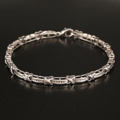 Sterling 0.35 CTW Diamond Bracelet