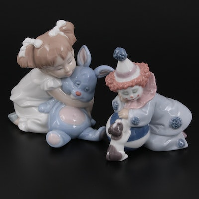"""Lladró """"Pierrot with Puppy & Ball"""" and Other Nao by Lladró Porcelain Figurines"""