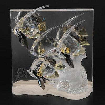 """Swarovski """"Community"""" Wonders of the Sea Crystal Figurine, 2007"""