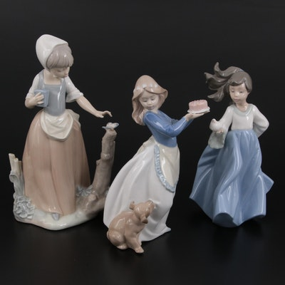 """Nao by Lladró """"Puppy's Birthday"""", """"Winged Friend"""" and Other Porcelain Figurines"""
