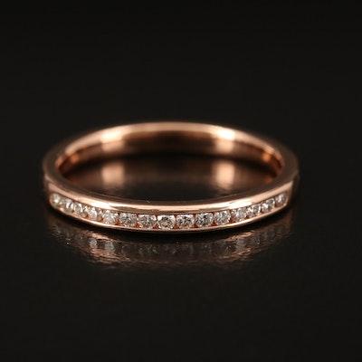 14K Rose Gold 0.19 CTW Channel Set Diamond Band