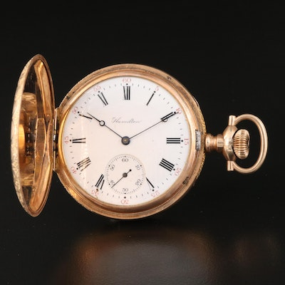 1911 Hamilton Gold Filled Hunting Case Pocket Watch