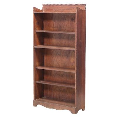 American Quartersawn Oak Six-Tier Open Bookcase, Early 20th Century