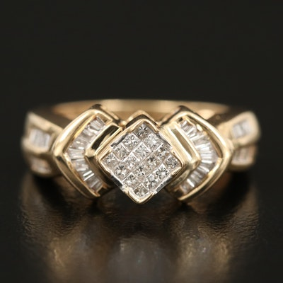 14K 0.57 CTW Diamond Ring