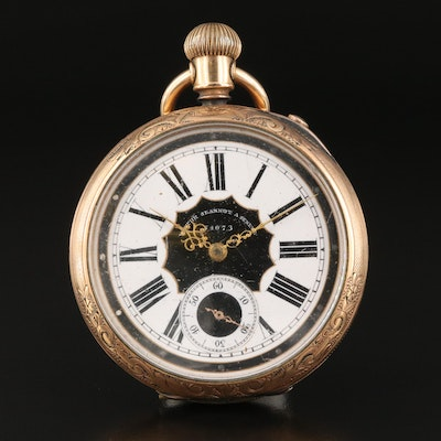 Victor Jeannot Geneve Gold Filled Pocket Watch