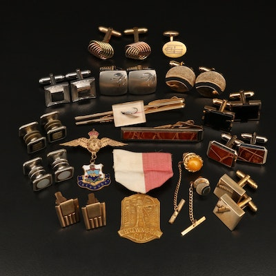 Cufflinks, Tie Tacks, Medal and Tie Clips Featuring Anson, Hickock and 10K