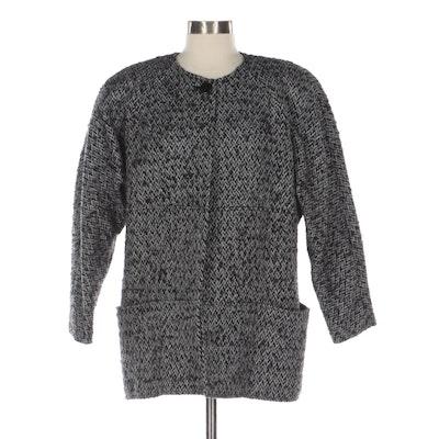 Tahari Wool Blend Collarless Jacket