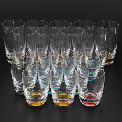 """Lenox for Kate Spade """"Summer Circle"""" Double Old Fashioned and Highball Glasses"""