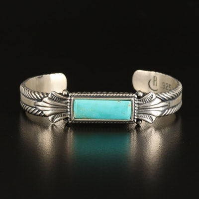Southwestern Relios Sterling Turquoise Cuff