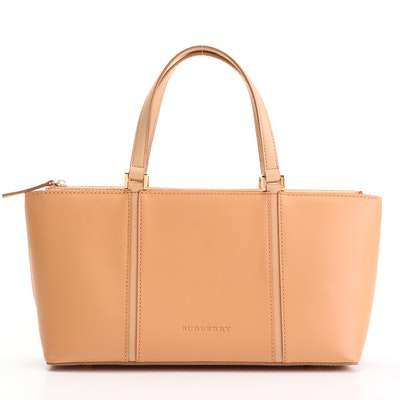 """Burberry Leather Handbag with """"House Check"""" Lining"""