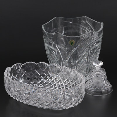 """Waterford Crystal """"Celebration"""" Champagne Bucket with Decorative Bowl and Bell"""