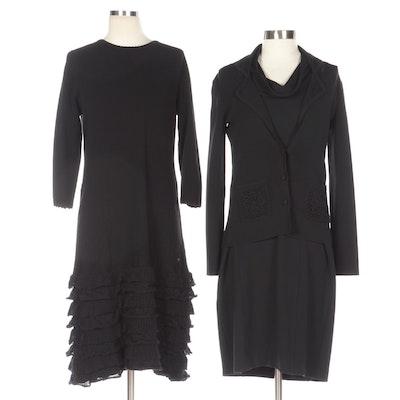 Carolina Herrera Knit Dress, Adrienne Vittadini Dress, and BCBG Max Azria Jacket