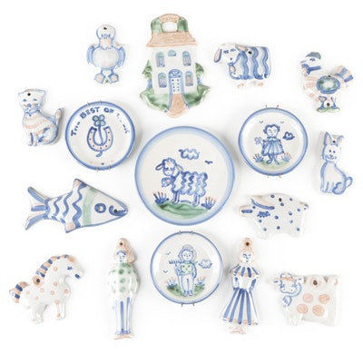 M.A. Hadley Ornaments, Coasters and Plate