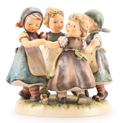 "Goebel ""Ring Around the Rosie"" Porcelain Hummel Figurine"