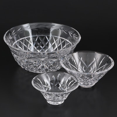 """Waterford """"Glandore"""", """"Lismore"""" and """"Innisfree"""" Crystal Bowls"""