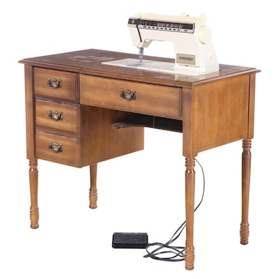 """Singer """"Touch-Tronic 2005"""" Sewing Machine with Table, Late 20th Century"""