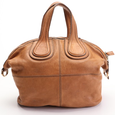 Givenchy Nightingale Satchel Medium in Tan Lambskin with Detachable Strap