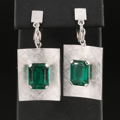 Vintage 14K Emerald Drop Earrings