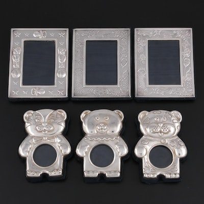 Fani Argenti Sterling Silver and Felt Backed Children's Picture Frames