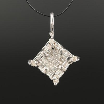 14K 0.46 CTW Diamond Pendant