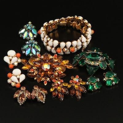 Vintage Rhinestone Jewelry Featuring Beau, Weiss and Kramer