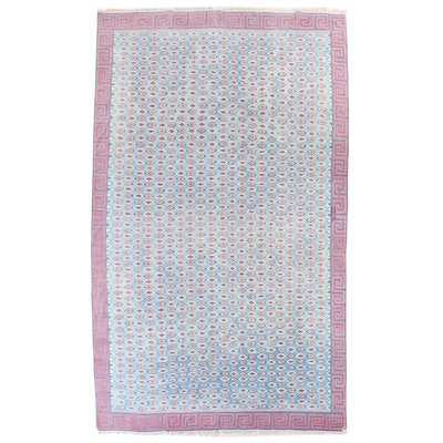 8'8 x 14'9 Handwoven Indian Dhurrie Room Sized Rug