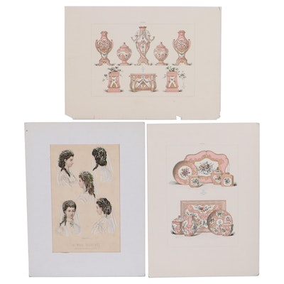 Hand-Colored Lithograph and Chromolithographs, Early 20th Century