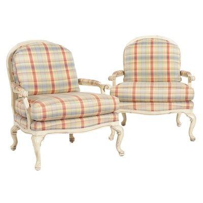 """Temple Inc. """"Linsey"""" Upholstered Arm Chairs"""