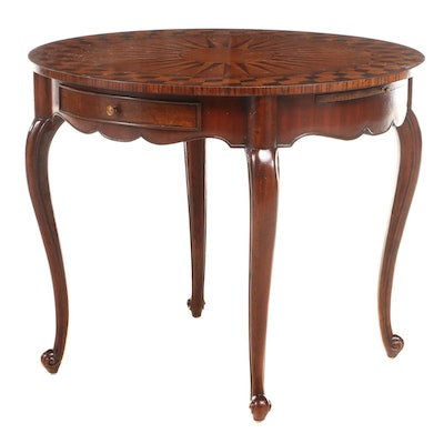 French Provincial Style Marquetry Top Center Table