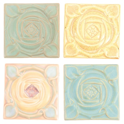 "Rookwood Pottery ""Prelude Rosette"" Tiles"