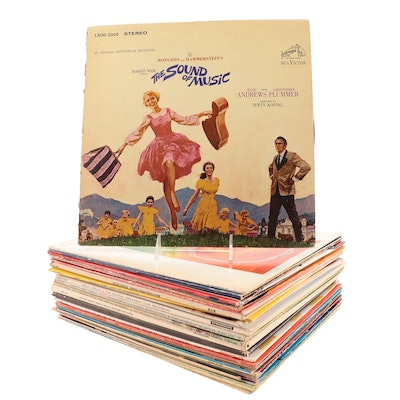 """""""The Sound Of Music"""", """"Hair"""", """"Oliver!"""", """"Godspell"""", Other Soundtrack LP Records"""