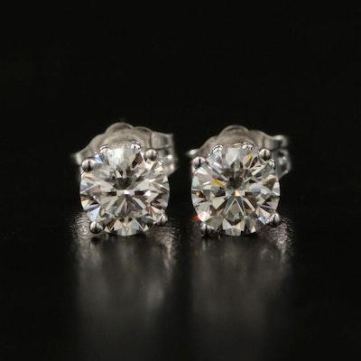 14K 1.12 CTW Stud Earrings