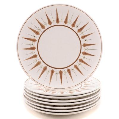 "Mikasa Terra Stone ""Sun Dial"" Dinner Plates, Mid-20th Century"