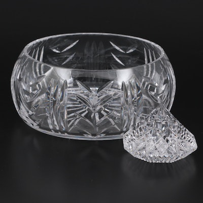 Waterford Crystal Bowl and Diamond Shaped Paperweight