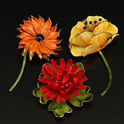 Original by Robért Enamel Flower Brooch Collection