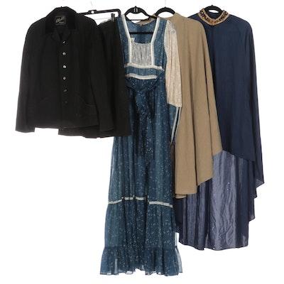 Lilli Diamond Cape, L. Frank Co. Skirt Suit, Gunne Sax Dress and Other Cape