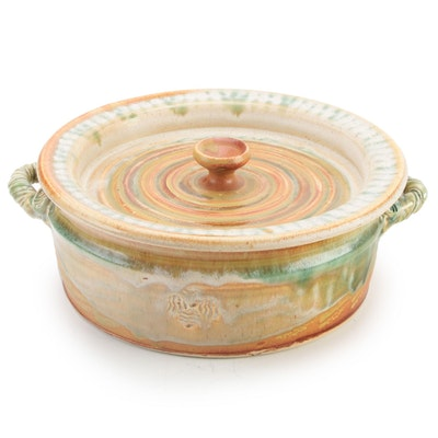 Vaughn Smith Studio Pottery Covered Serving Dish, 2009