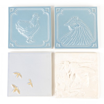 The Firehouse Tile Company and Other Matte Glazed Earthenware Tiles