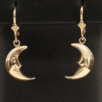 10K Crescent Moon Earrings