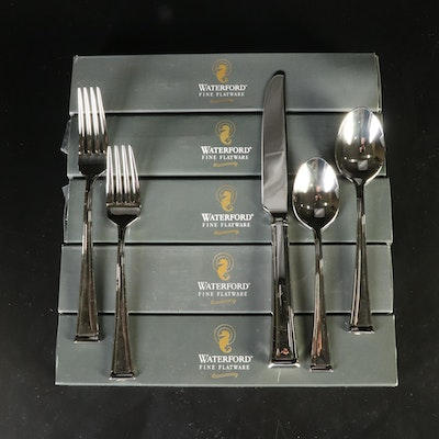 """Waterford 18/10 Stainless Steel """"Kilbarry"""" 5pc Flatware Sets"""