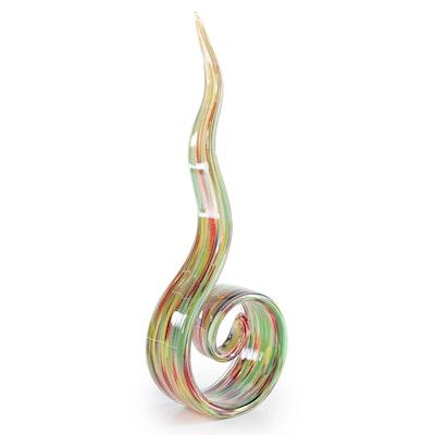 Abstract Freeform Art Glass Sculpture