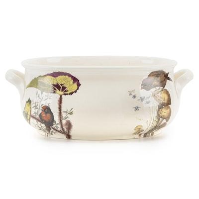Depose Bird Motif Ceramic Foot Bath